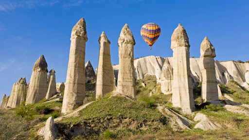 Hot Air Balloon Over Fairy Chimneys, Cappadocia, Turkey.jpg