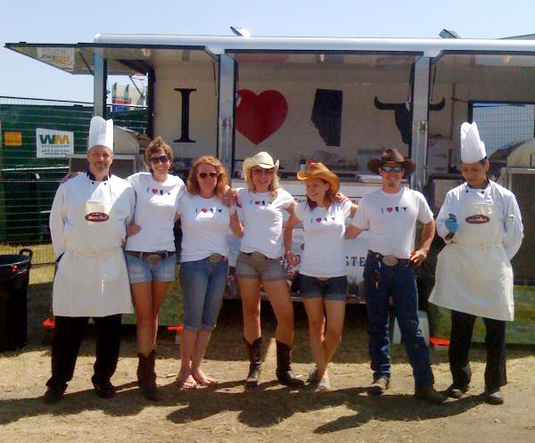 "The Alberta Beef ""Famous Taste Express"" Crew & Trailer at the Greatest Outdoor Show on Earth – The Calgary Stampede, July 2012"