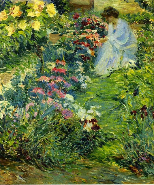 John Breck - Woman in a Garden