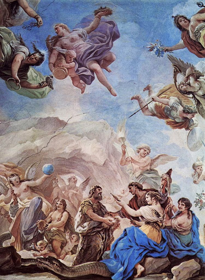 Luca Giordano - The creation of man, fresco in the Palazzo Medici-Riccardi in Florence