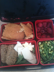 Lunchbox with vegan food