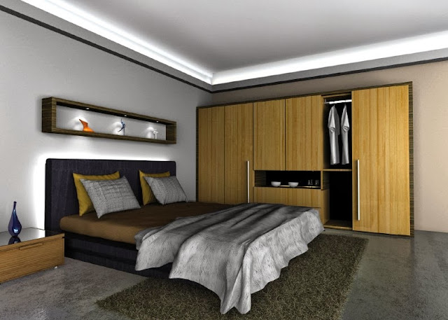 modern bedroom led light strips