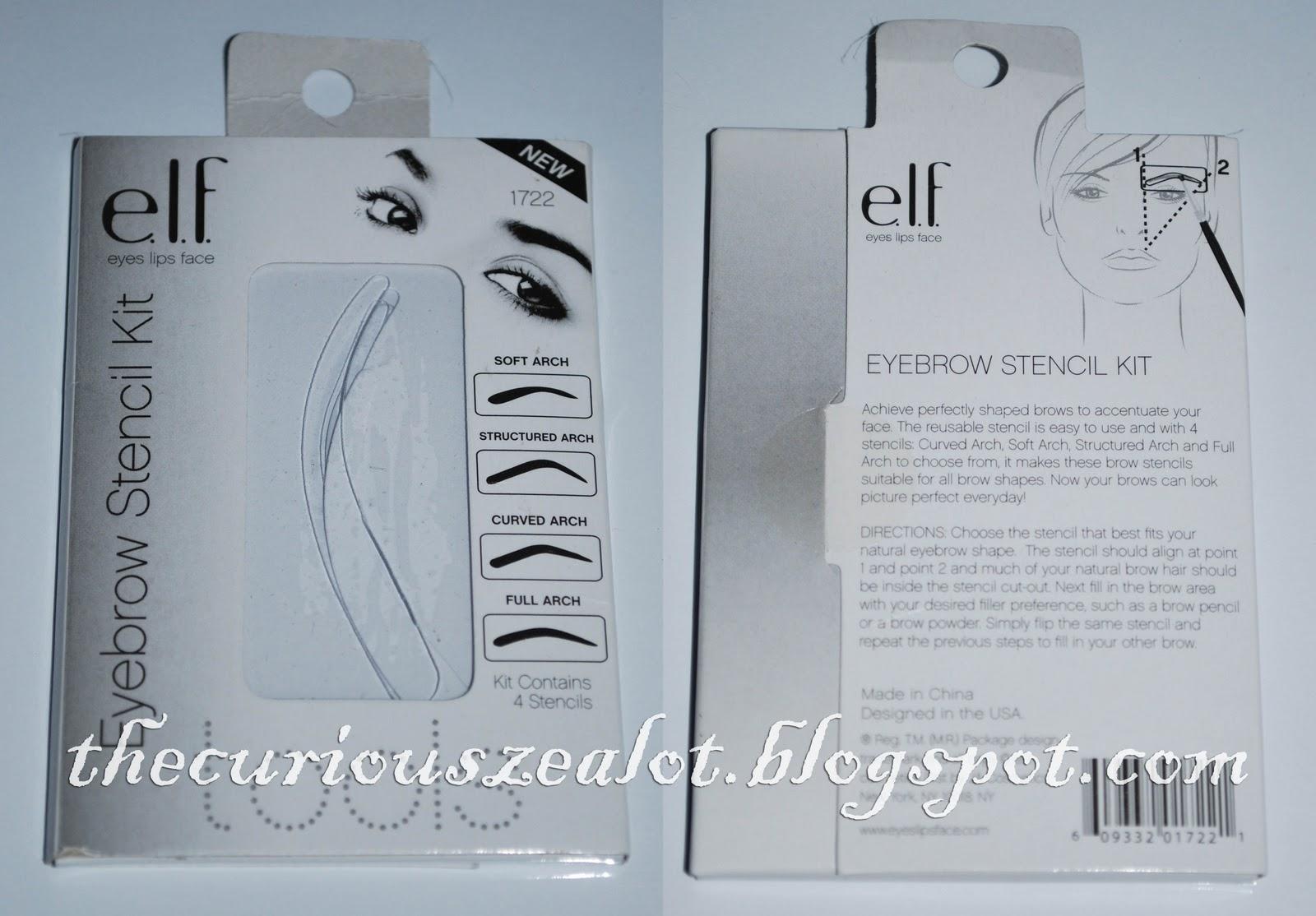 The Curious Zealot Elf Eyebrow Stencil