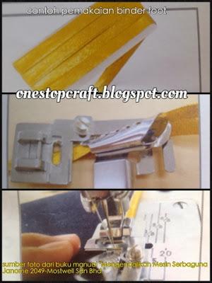 contoh pemakaian binder foot