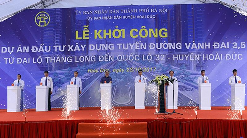khoi cong tuyen duong vanh dai 3.5