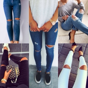 The latest trend: Ripped jeans (DIY tutorial) | Lauren&39s Looks