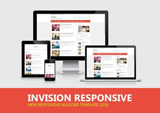 Share Invision Responsive Blogger Template cho Blog cá nhân