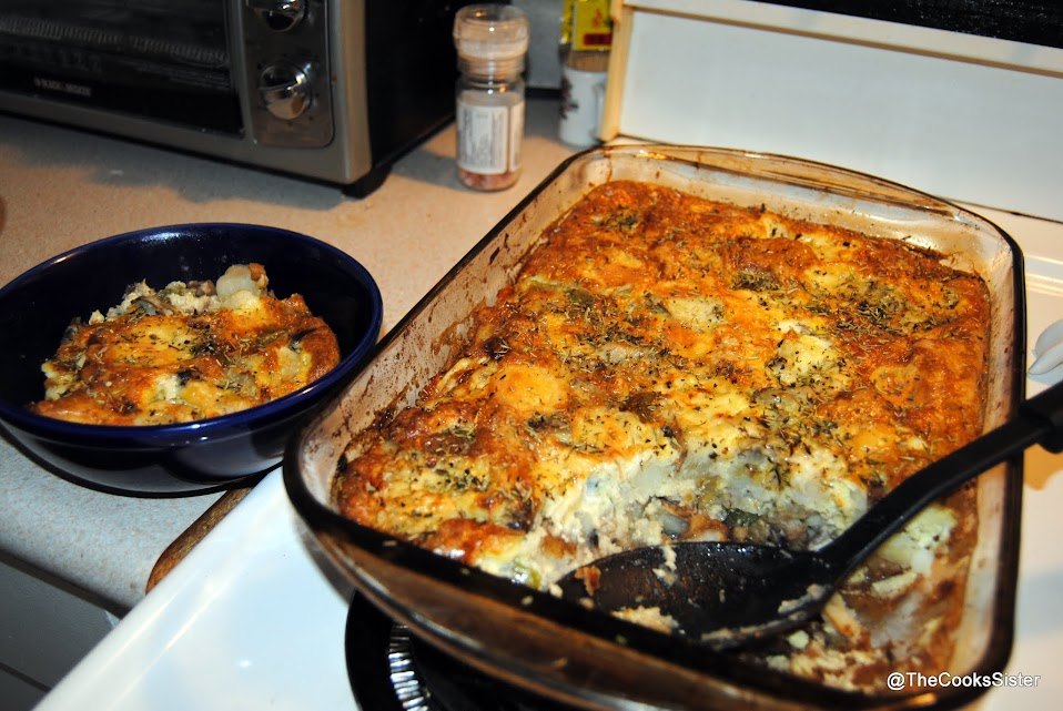 egg bake with mushrooms and potatoes