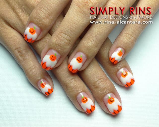 Halloween Cupcake Nail Art Design