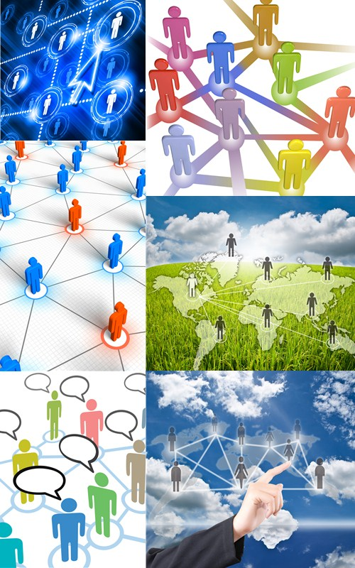 Stock Photo: People social network communication