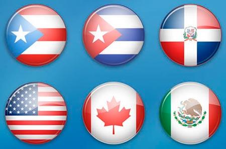 iconos banderas paises: