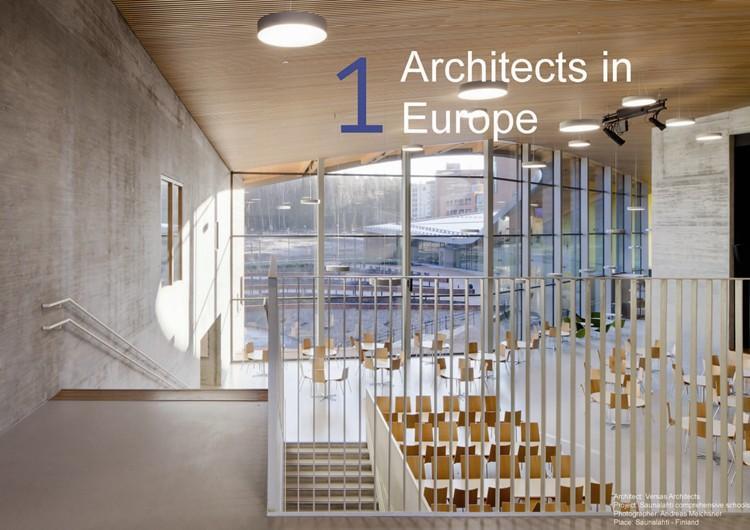 numero de arquitectos hombres y mujeres en europa