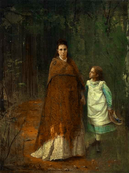 Ivan Kramskoy - Portrait of the Artist's Wife and Daughter