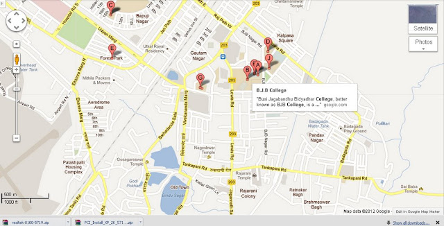 BJB College Bhubaneswar Area Map