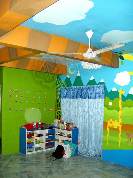 Aldhia design projek mural untuk taska safari kids for Mural untuk kanak kanak