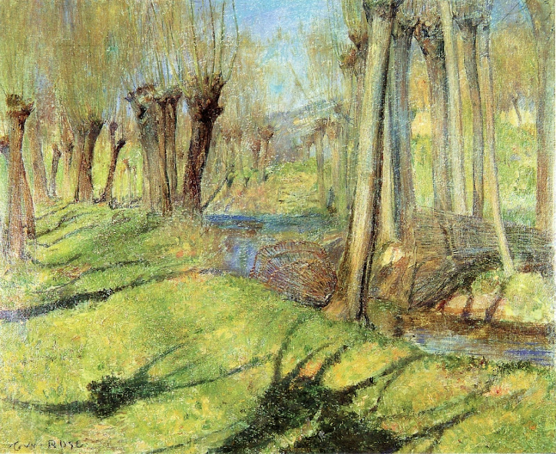 Guy Orlando Rose - Giverny Willows