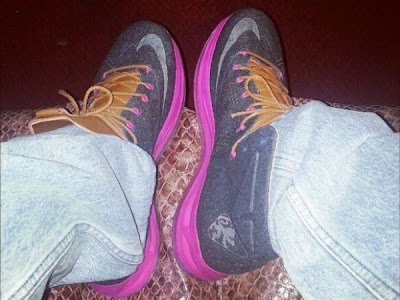 nike lebron 10 sportswear pe denim 1 02 Another Look at the Nike LeBron X NSW Denim / Pink PE