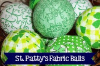 St. Patrick's Day Decorative Fabric Balls