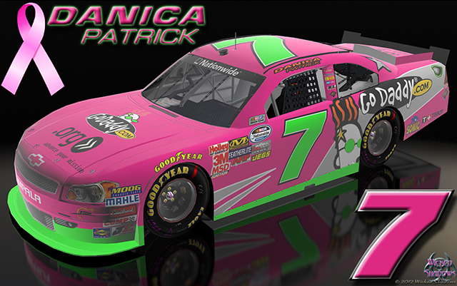 Danica Patrick Go Daddy Pink Car Breast Cancer Awareness Wallpaper
