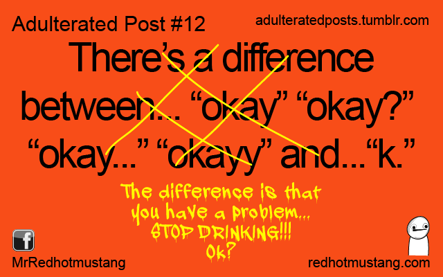 There's a difference..., OK?