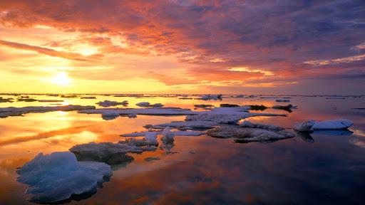 Summer Pack Ice at Sunset,  Ivvavik National Park, Yukon, Canada.jpg