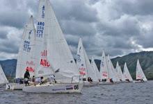 J/24s sailing Lago San Roque, Cordoba, Argentina