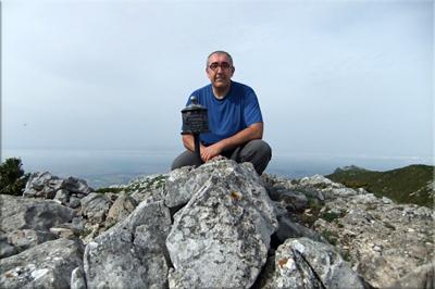 Cervera mendiaren gailurra 1.384 m. -  2012ko maiatzaren 12an
