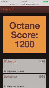 iPod touch 5G iOS7 Benchmark CPU 04 Google Octane benchmark