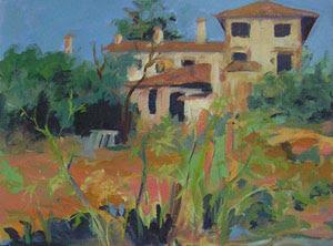 """A Farmhouse in Tuscany"" by Artist Diana Saffo Bono."