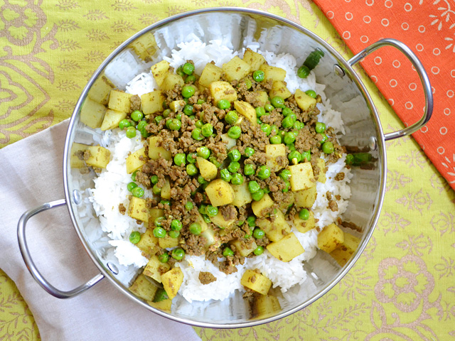 Curry Beef w Peas