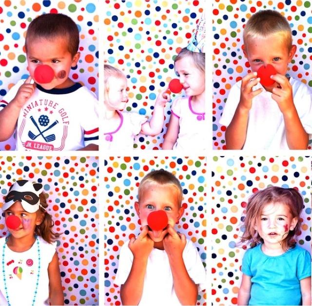 Photocall niños payasos
