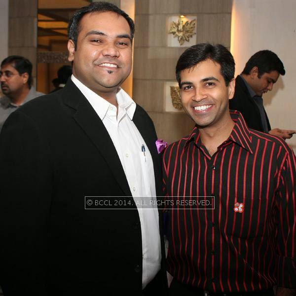 Prateek Munot and Ritesh Saraf during Nagpur Round Table 83 meeting. <br />