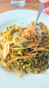 Mediterranean Exploration Company, Mejadara with rice, lentils, fried onion