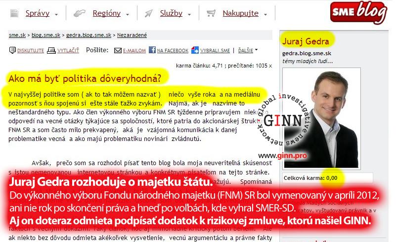 Blog Juraja Gedru - Ako má byť politika dôveryhodná?