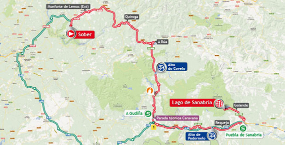 La Vuelta 2013. Etapa 5. Sober - Lago de Sanabria. @ Unipublic