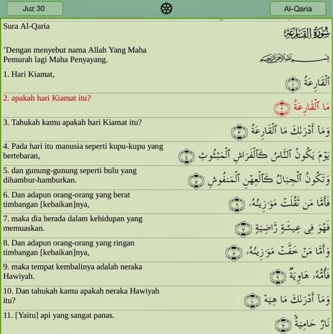 Notes At Taklim Surat Al Qariah