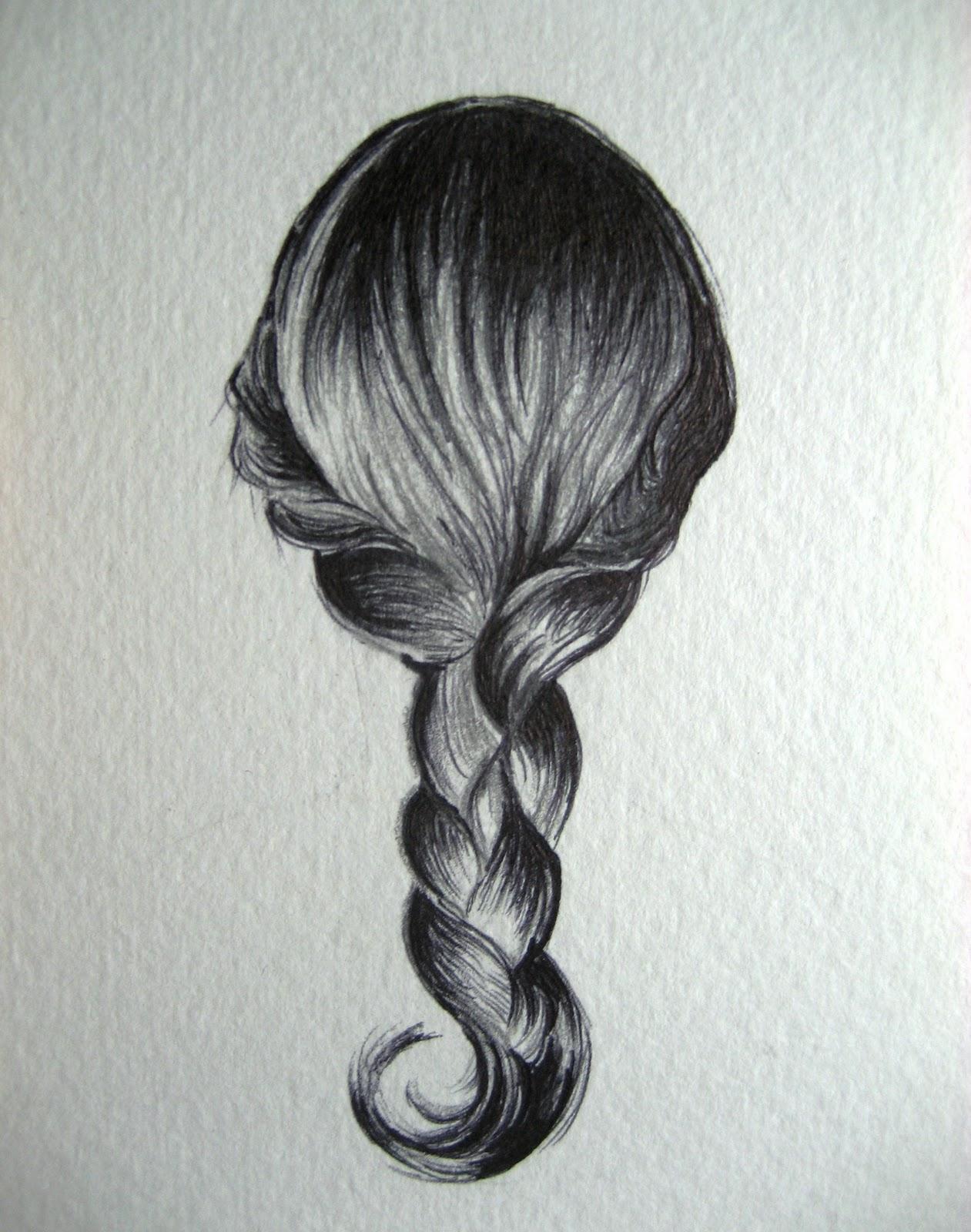 how to draw a braid i draw fashion - HD1261×1600