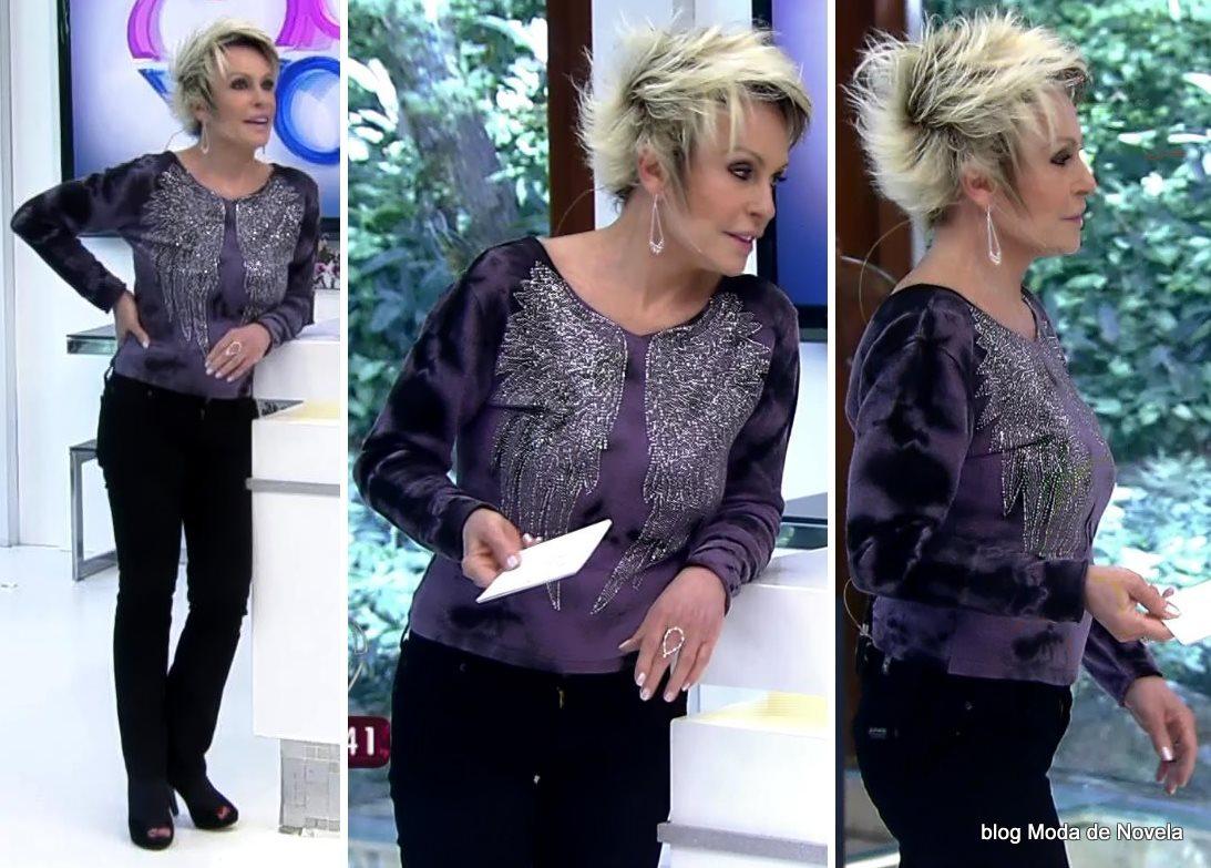 moda do programa Mais Você - look da Ana Maria Braga dia 31 de julho