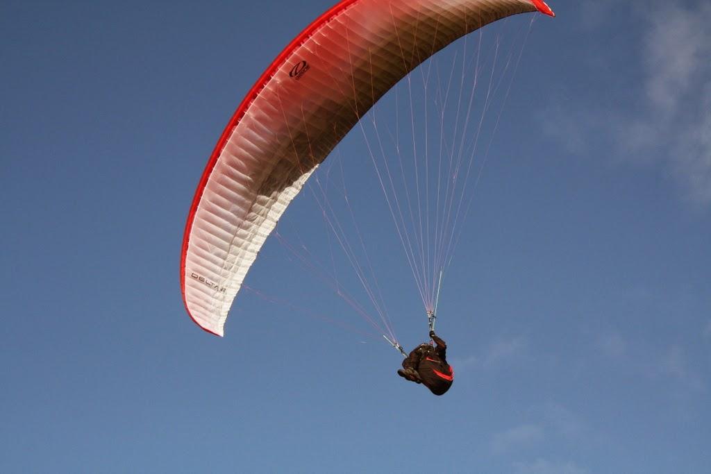 Paragliding at Slieu curn Isle of Man