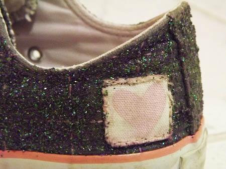 Customização de tênis All Star com glitter