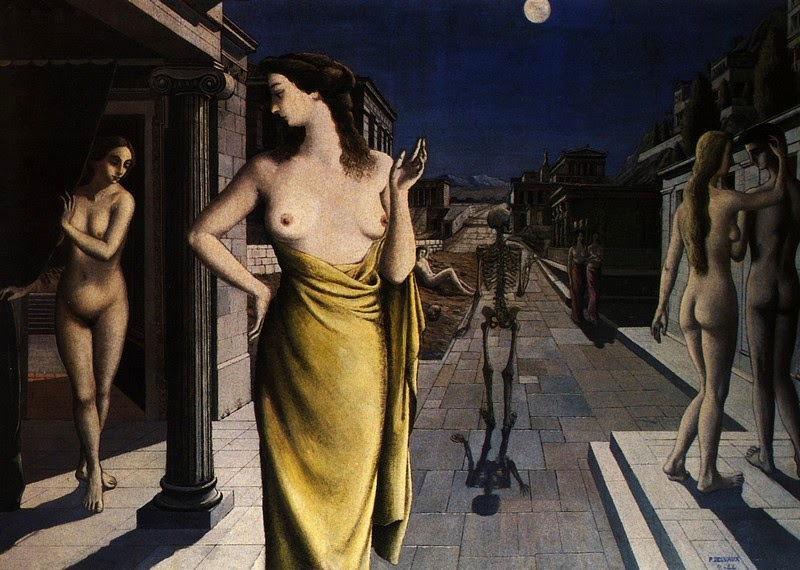 Paul Delvaux - Lunar City, 1944