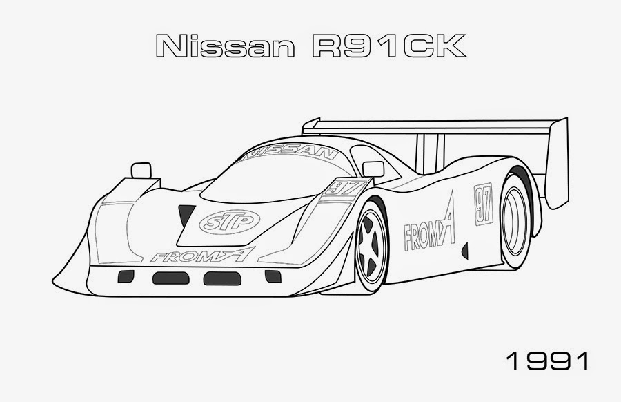 nissan r91ck car coloring pages