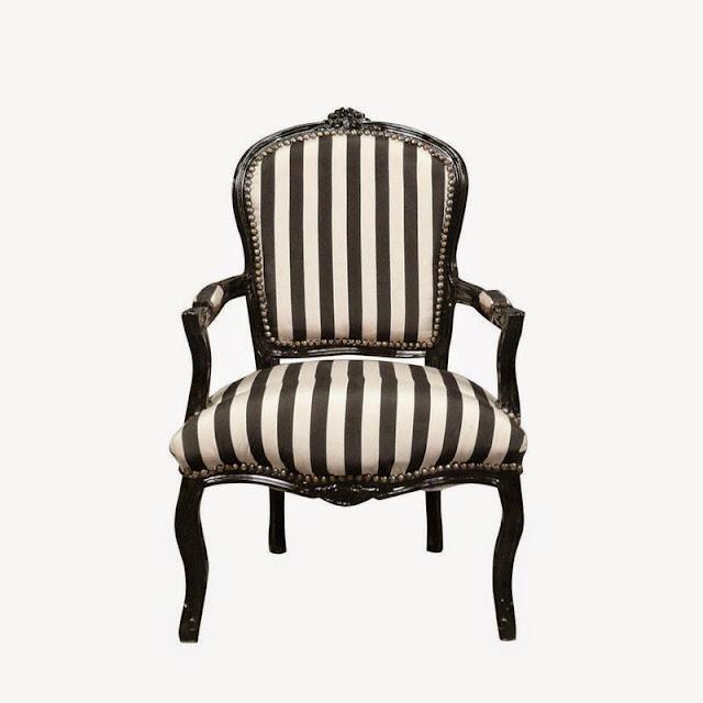 Styl le fauteuil louis xv - Fauteuil cabriolet noir et blanc ...