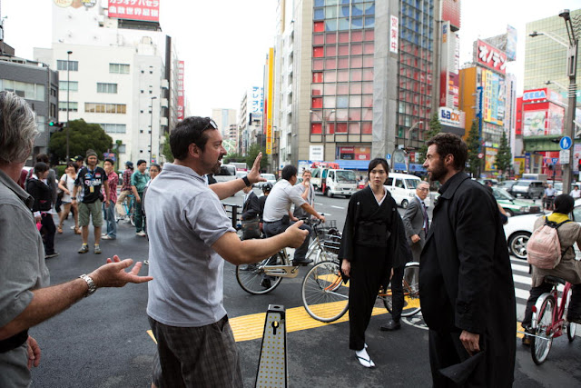 The Wolverine director James Mangold shooting in downtown Tokyo