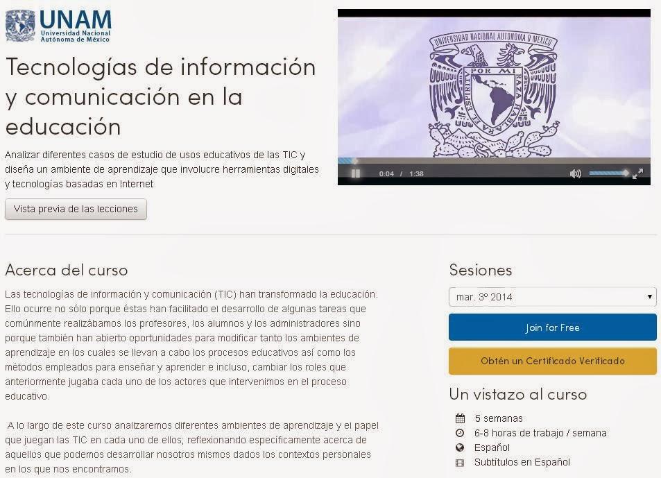"""Curso gratuito online de """"Tecnologías de información y comunicación en la educación""""   Gustavo Martínez Blog´s"""