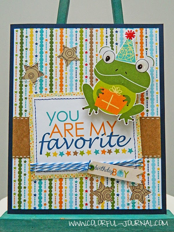 birthday boy card collection bella blvd frog toad