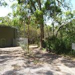 Large green water tank on the Wallarah Pennisula Walk near Murray's Beach (389069)