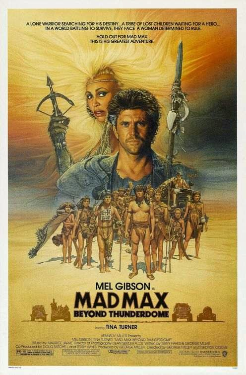 Poster Of Mad Max Beyond Thunderdome (1985) Full Movie Hindi Dubbed Free Download Watch Online At Alldownloads4u.Com