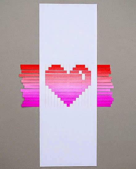Cartão coração papel