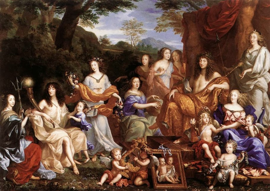 Jean Nocret - Mythological portrait of the Family of Louis XIV